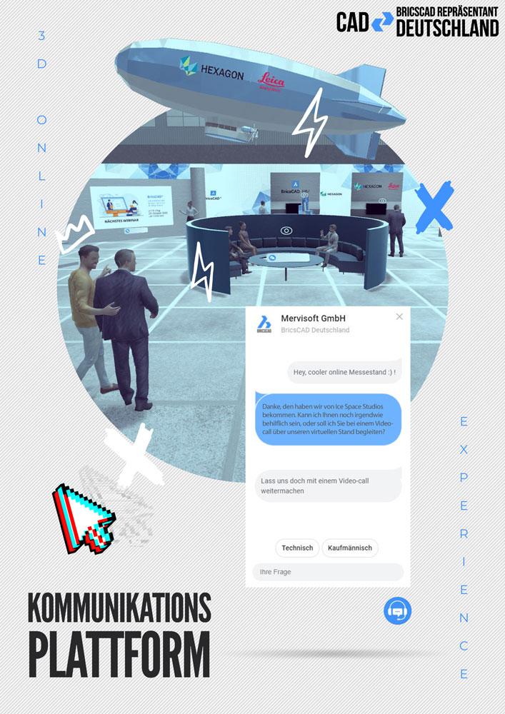Content Produktion Mervisoft Poster Plakat Online Messe Kommunikation 3D Chat