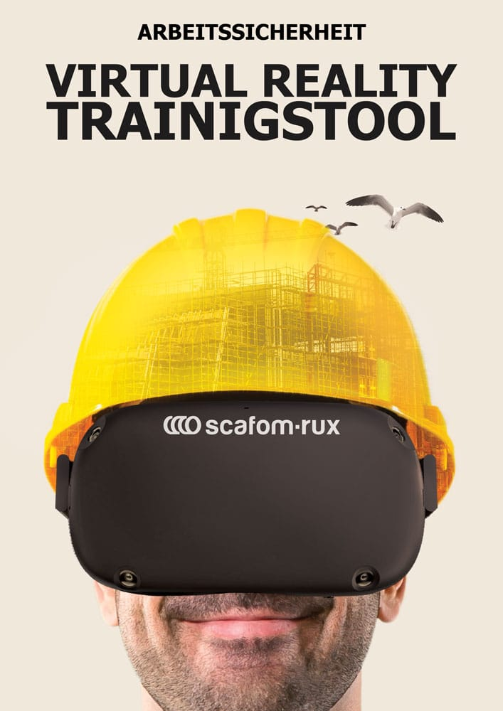 Content Produktion Scafom RUX Poster VR Trainingstool Virtual Reality Gerüstbau