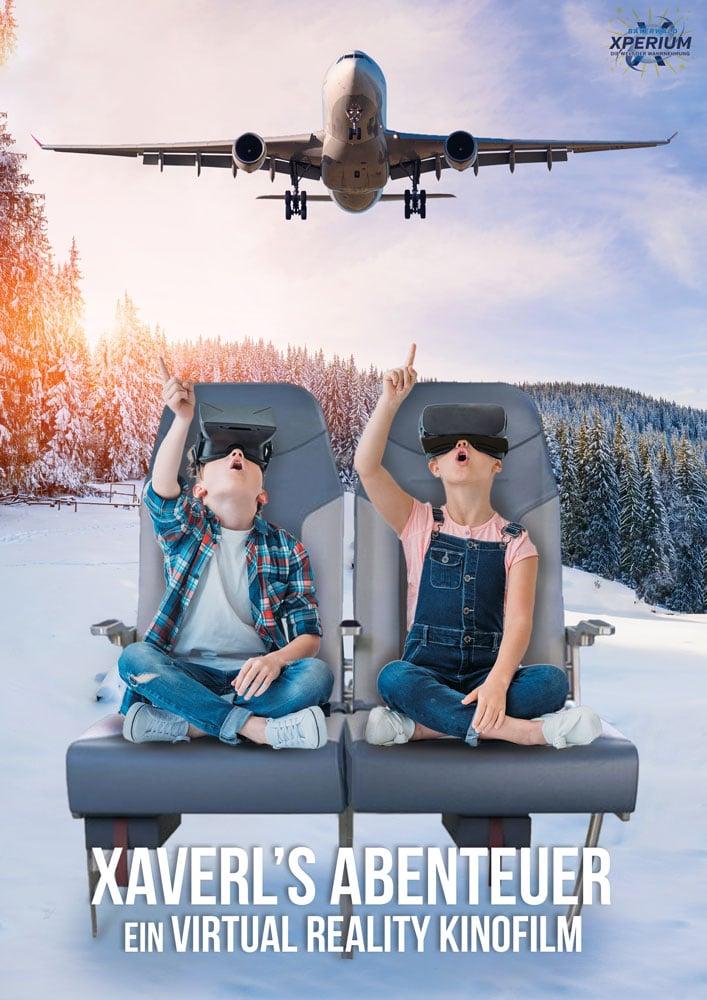 Bayerwald XPerium Poster Flugzeug VR Film Kinder