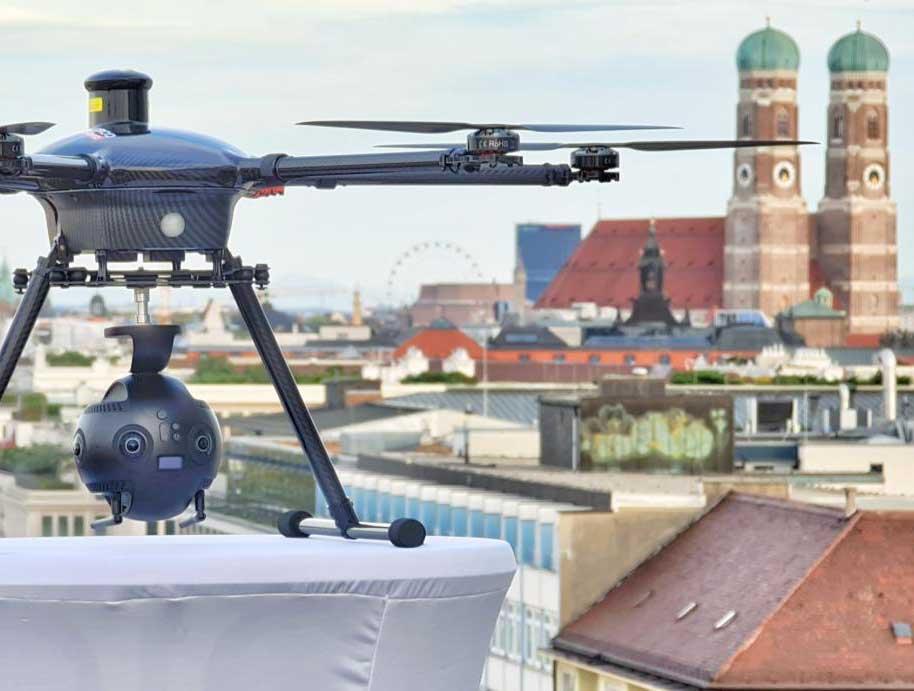Content Produktion Drohne München Insta VR 360 Insta360 Pro Yuneec Tornado