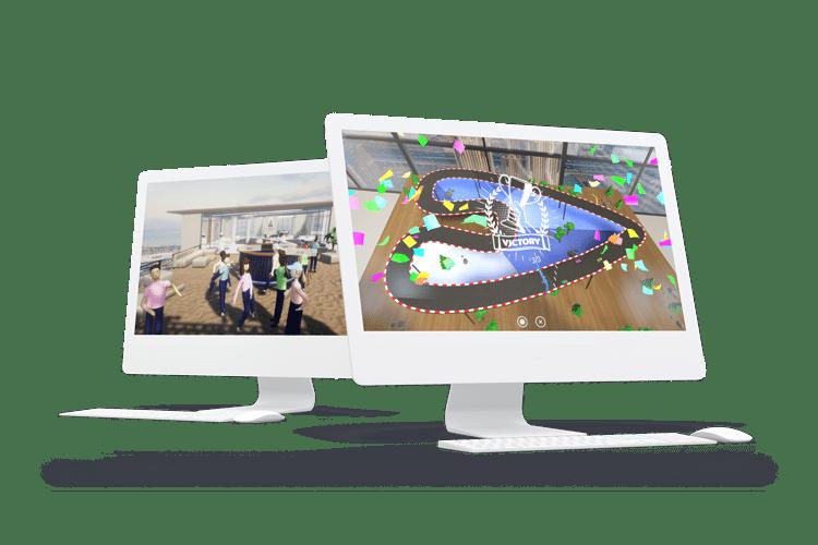Virtuelle Messe Event Mockup Online